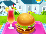Homemade Burger Cooking