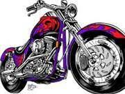 Motorbike Drawing Artist