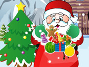 Santa Collecting Christmas Gift