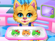 Sweet Rainbow Kitty Cookies