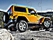 Yellow Jeep Wrangler Off Road