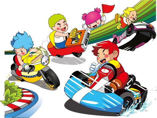 Cartoon Kart Puzzle