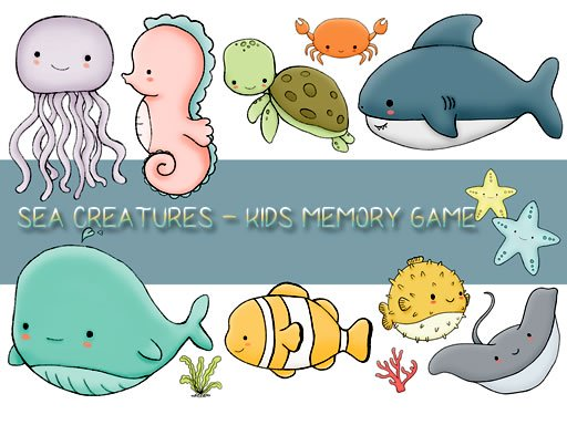 Kids Memory Sea Creatures