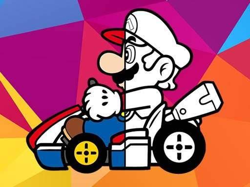 Mario Driving Coloring Book
