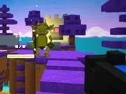 Floating Minecraft Battlefield
