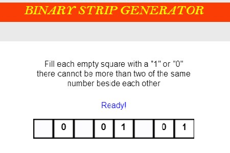 binary strip generator