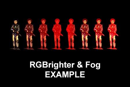 RGBrighter and Fog effects example