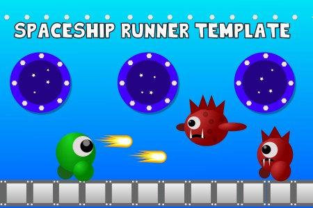 Space Ship Infinite Runner Game Template